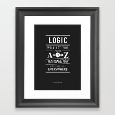Type Poster - Albert Einstein Framed Art Print