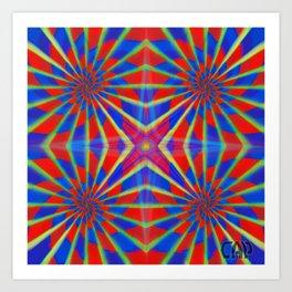 Quadro #1 Vibrant Psychedelic Optical Illusion Art Print