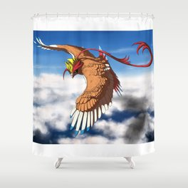 Sunlit Grace Above the Clouds Shower Curtain