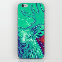 Stag Dimension of Teal iPhone Skin