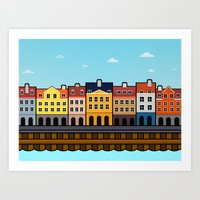 copenhagen Art Prints featuring Copenhagen by Al Power