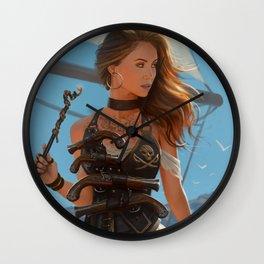Franceska Drake the black powder pirate Wall Clock