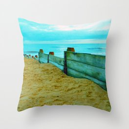 North Sea views Throw Pillow