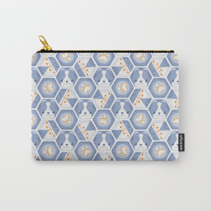 Hexy Cats_Blue Carry-All Pouch
