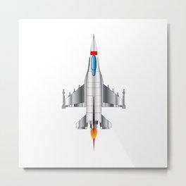 Modern Jet Fighter Plane Metal Print