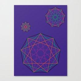 Nonagon Triad Violet Canvas Print