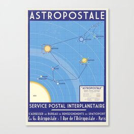 ASTROPOSTALE - Solar System Map Canvas Print