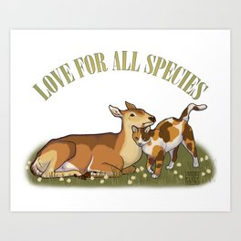 Love For All Species Art Print