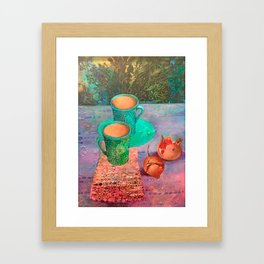 pomegranate coffee RAF Framed Art Print