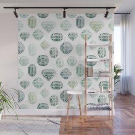 Green Gemstones Wall Mural