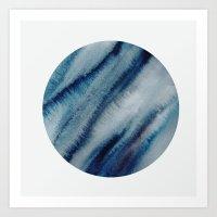 lunar Art Prints featuring LUNAR by K.Lewis Illustration