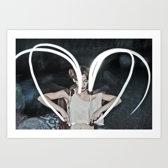 the unbearable darkness of being Art Print