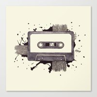 cassette Canvas Prints featuring Cassette by One Curious Chip