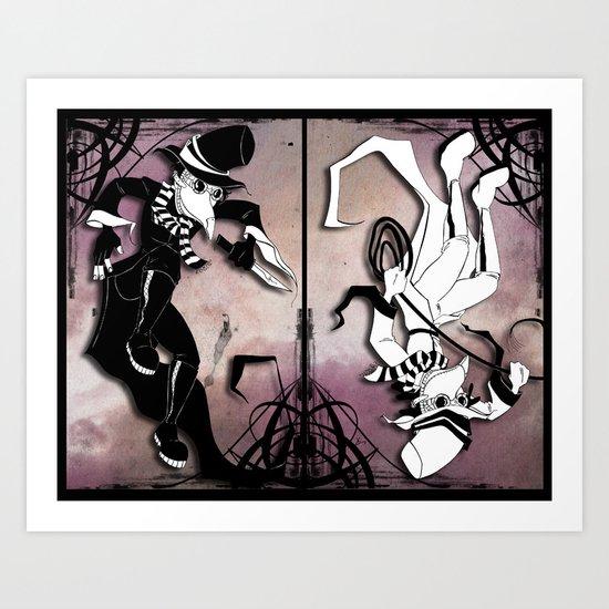 spy vs. spy Art Print