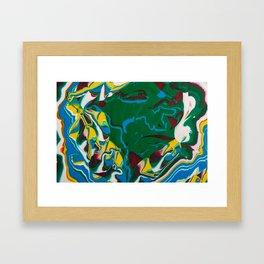 Facets Framed Art Print