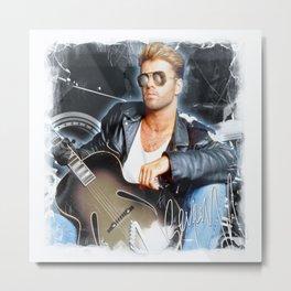 George singer Michael Metal Print
