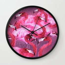 Flamingo Art Wall Clock