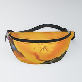 California State Poppy in Bloom by Reay of Light Photography Fanny Pack