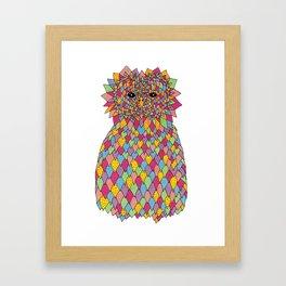 Psychedelic Owl Framed Art Print