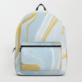Wonder Blue Marble Glam Backpack