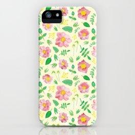 California Rose Pattern iPhone Case