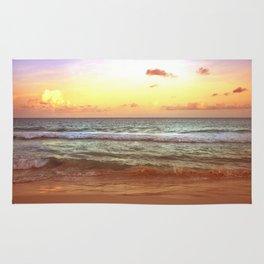 beacH Sunrise Sunset Rug