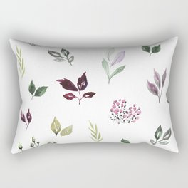 Tiny watercolor leaves Rectangular Pillow