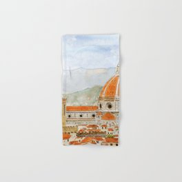 Italy Florence Cathedral Duomo watercolor painting Hand & Bath Towel
