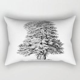 Old Tree Detailed Illustration Drawing Rectangular Pillow