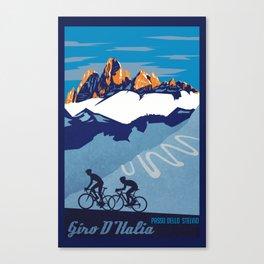 Giro d'Italia Passo Dello Stelvio cycling poster Canvas Print