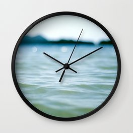 Wave Bokeh The Deep End Wall Clock