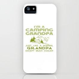 Camping Grandpa iPhone Case