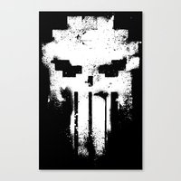 punisher Canvas Prints featuring Space Punisher by RicoMambo