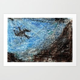 Drowning in the Bar Art Print