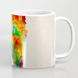 Bahrain Map in Watercolor Coffee Mug