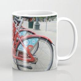 Rack of Rental Bikes Coffee Mug