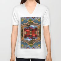 china V-neck T-shirts featuring China. by Grant Pearce