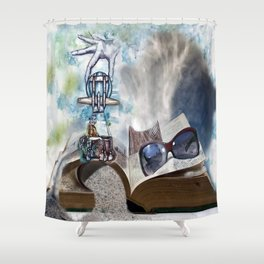 On The Wings Of Love Shower Curtain