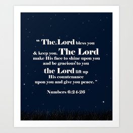 The Lord bless you Art Print