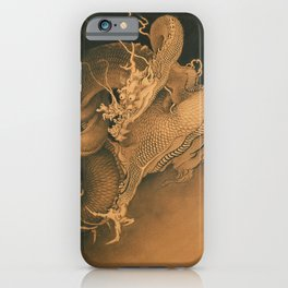 Two Dragons by Kano Hogai, 1885 iPhone Case