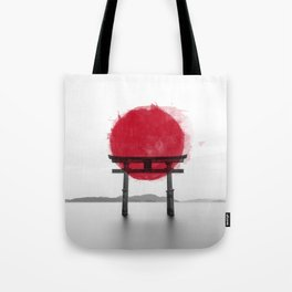 JAPANESE HINOMARU FLAG SIGNS Tote Bag