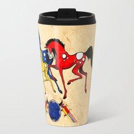 Navajo Horse Family Travel Mug