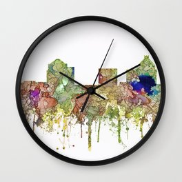 Greensboro, North Carolina Skyline - Faded Glory Wall Clock