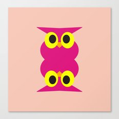 CVAn0051 Pink Owl Twins Canvas Print