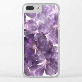 Purple Blossoming Clear iPhone Case