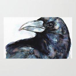 Raven, Watercolor Rug