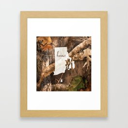Rhode Island is Home - Camo Framed Art Print