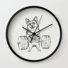 Corgi Lift Wall Clock