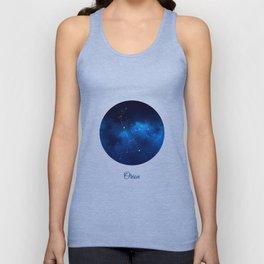 Orion Constellation Dark blue night Unisex Tank Top