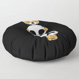 Cute Skulls No Evil II Floor Pillow